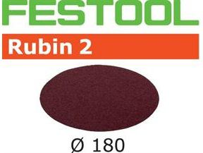 Brusné kotouče StickFix pro brusku Festool RAS 180 - Rubin 2 Festool STF D180/0 P60 RU2/50 - 180mm, zrnitost P60, 50ks (499126)