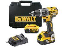 DeWALT DCD796P2 - 2x 18V/5.0Ah XR Li-Ion, 70Nm, 2 rychl., 1.8kg, kufr, bezuhl. aku vrtačka s příkl.