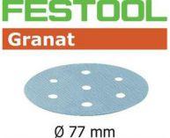 Brusné kotouče StickFix Granat Festool STF D77/6 P80 GR/50 - 77mm, zrnitost P80, 50ks