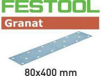 Brusné papíry Granat STF 80x400 P80 GR/50 - zrnitost P80, 50ks