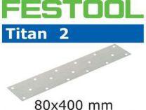 Brusné papíry Titan 2 Festool STF 80x400 P180 TI2/50 - zrnitost P180, 50ks
