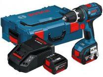 Bosch GSB 14,4 V-EC Professional - 2x 14.4V/4.0Ah, 56Nm, 2 rychl., 1.7kg, kufr, aku vrtačka s příkl.