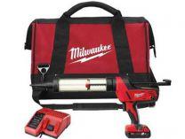 Aku vytlačovací pistole na tmely Milwaukee C18 PCG/400T-201B pro náplně 400ml, 1x 18V/2.0Ah, taška