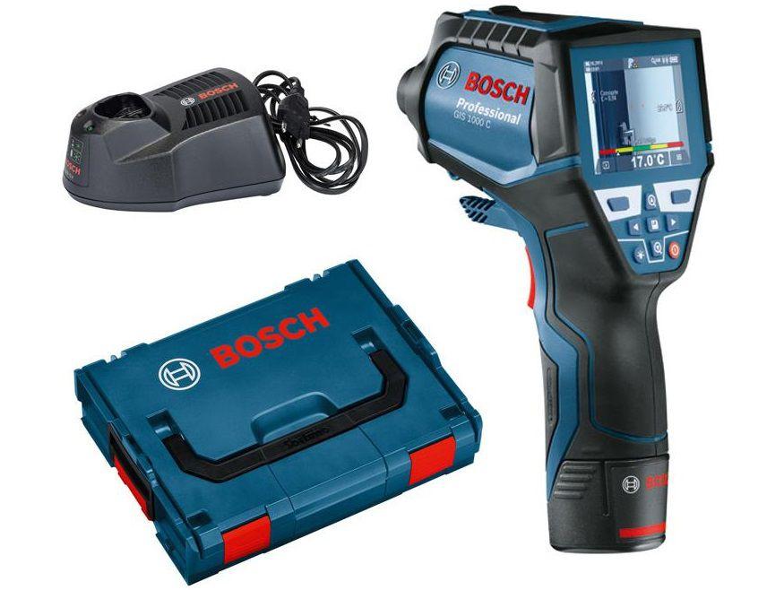 Infra aku termodetektor - teploměr Bosch GIS 1000 C Professional, kufr L-Boxx (0601083301)