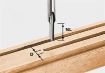 Drážkovací fréza Festool HS S8 D 4/15 - 8 mm, rychlořezná ocel HS