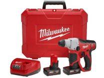 Aku kombinované pneumatické kladivo SDS-Plus Milwaukee M12 H-202C - 2x 12V/2.0Ah, 1.6kg (4933431340)