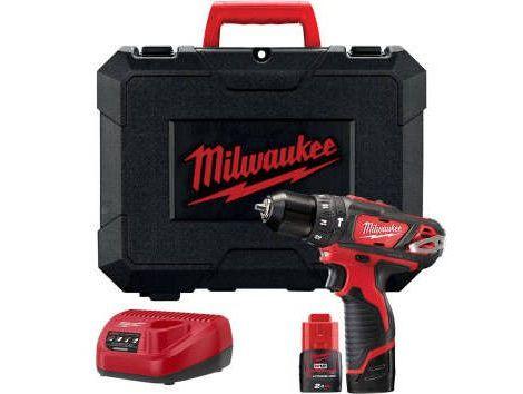Aku vrtačka s příklepem Milwaukee M12 BPD-202C - 2x aku 12V/2.0Ah, 1.2kg v kufru (4933441940)