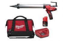 Aku vytlačovací pistole na tmely Milwaukee M12 PCG/600A-201B pro náplně 600ml, 1x 12V/2.0Ah, taška