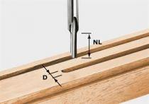 Drážkovací fréza Festool HS S8 D 3/8 - 8 mm, rychlořezná ocel HS