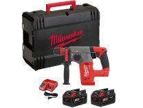 Zobrazit detail - Milwaukee M28 CHPX-502C - 2x 28V/5.0Ah, 4.7kg, kufr, aku pneumatické kladivo SDS-Plus