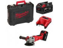 Milwaukee HD28 AG125-502X - 125mm, 2x 28V/5.0Ah, 2.8kg, kufr, aku úhlová bruska