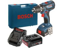 Bosch GSB 14,4-2-LI Plus Professional - 2x 14.4V/2.0Ah, 59Nm, 2 rychl., 1.5kg, kufr, aku vrtačka s příkl.