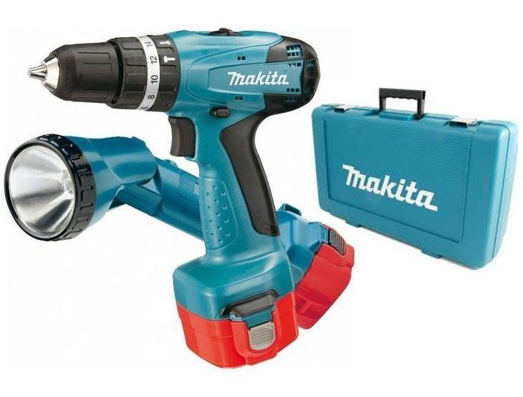 Makita 8271DWALE - Aku příklepový šroubovák s lampou NiCd 12V/1,9Ah