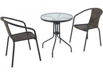Garland zahradní set (1x kruhový stůl, 2x židle) - Pikolo set vhodný na balkón