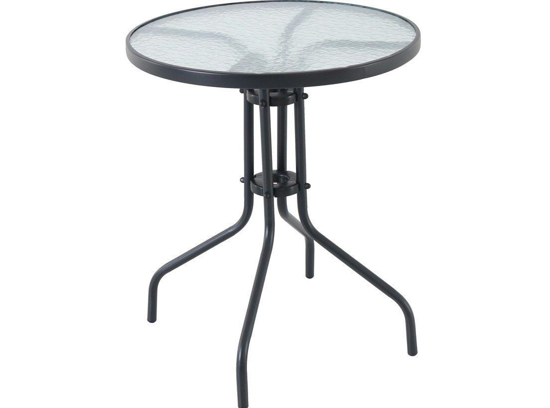 Zahradní stůl se skleněnou deskou Garland - Pikolo Round, kód: FTS00027