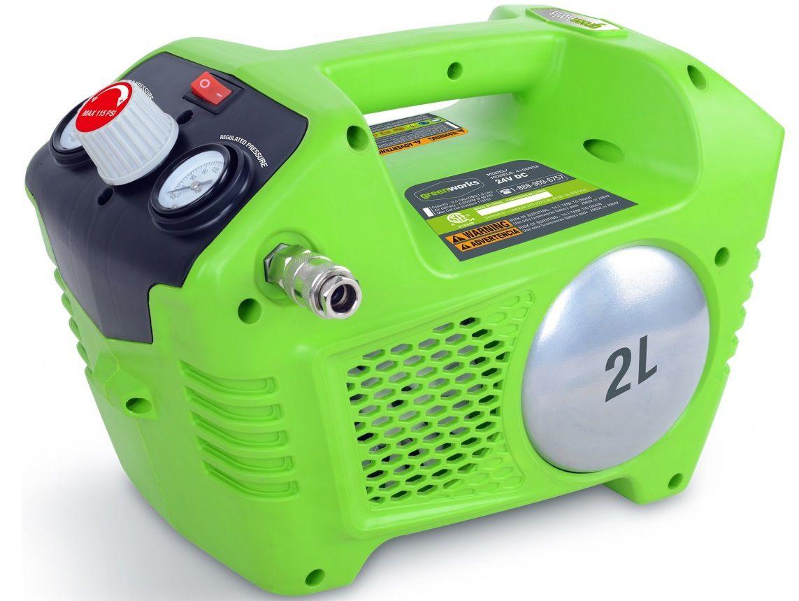Aku bezolejový kompresor Greenworks G40AC - 40V, 8bar, 6kg, bez akumulátoru a nabíječky (4100802)