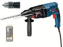 Vrtací a sekací kladivo Bosch GBH 2-24 DF Professional - SDS-Plus, 790W, 2.7 J, 2.8kg + 5 dílná sada vrtáků SDS-plus-5