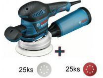 Bosch GEX 125-150 AVE Professional - 400W,125/150mm, kufr, excentrická bruska + 50ks brusných papírů