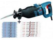 Zobrazit detail - Pila ocaska Bosch GSA 1100 E Professional - 1100 W, 28 mm 3,9 kg, kufr + 20ks pilových plátků