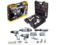 """34-dílná sada nářadí STANLEY 8221074STN Multi Kit Box - 1/2"""" utahovák, pneu. kladivo, bruska +přísl."""