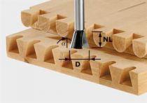 Svlaková/ozubová fréza Festool HW S8 D13,8/13,5/15° - 8 mm