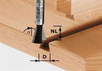 Svlaková/ozubová fréza Festool HW S8 D14,3/13,5/15° - 8 mm