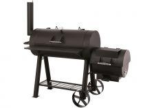 TEPRO Milwaukee - gril na dřevěné uhlí s komínem - udírna, regulace vzduchu, 171x78,5x151cm