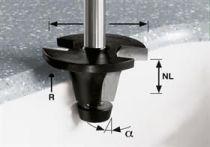 Zaoblovací vydutá fréza Festool HW R6.35/25/6° ss S12 - 12 mm