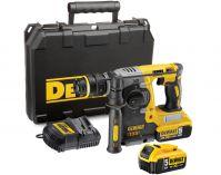Zobrazit detail - DeWalt DCH273P2 - 2x 18V/5.0Ah, 2.9kg, 400W, 2.1J, kufr, aku kombinované kladivo