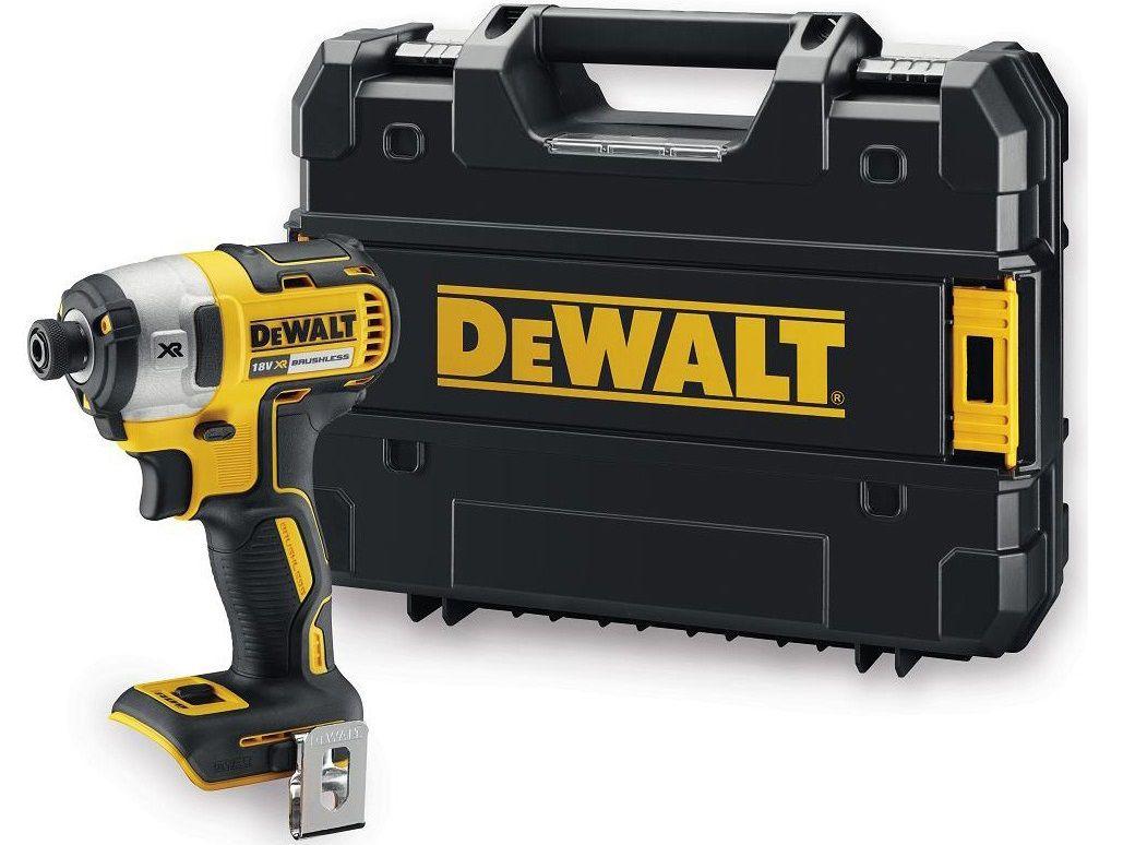 Bezuhlíkový aku rázový utahovák s přesným kroutícím momentem DeWalt DCF887N - 18V, 205Nm, v kufru, bez akumulátoru a nabíječky (DCF887NT-XJ)