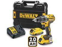 DeWALT DCD791D2B - 2x 18V/2.0Ah XR Li-Ion, 70Nm, 2 rychl., kufr, bezuhl. aku vrtačka bez příklepu
