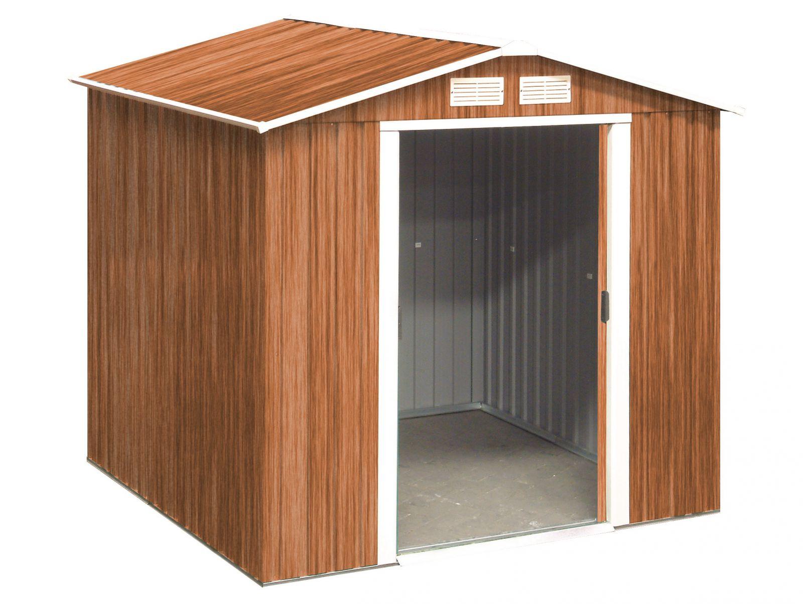 Plechový zahradní domek Duramax Riverton 2,5 m2 - imitace dřeva (zahradní/nářaďový domek)