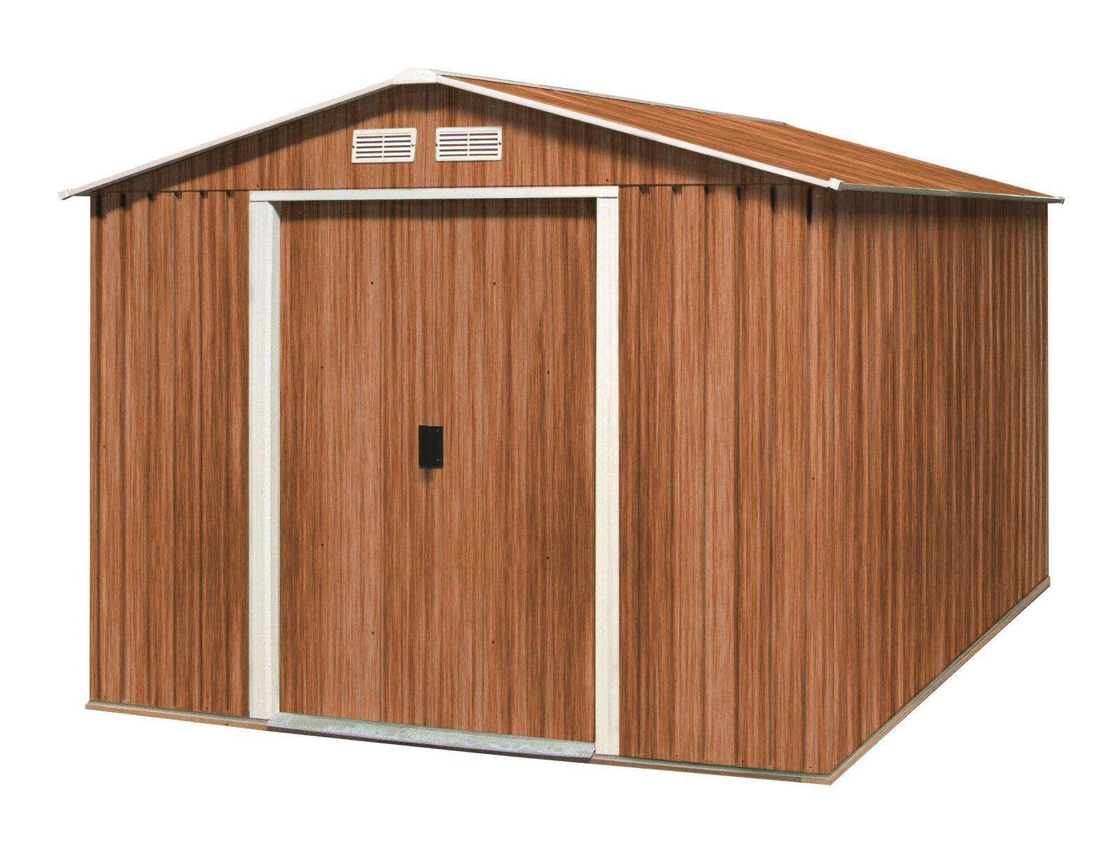 Plechový zahradní domek Duramax Titan 4,7m2 - imitace dřeva (zahradní/nářaďový domek)