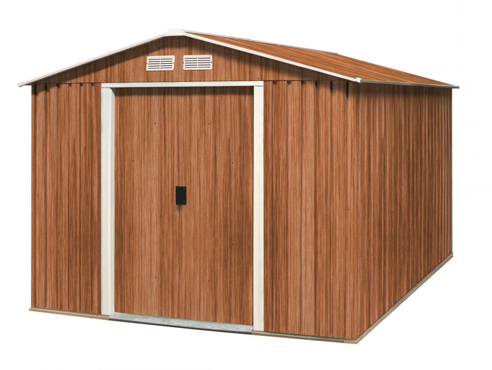 Plechový zahradní domek Duramax Titan XXL 7,8m2 - imitace dřeva (zahradní/nářaďový domek)