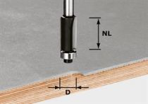 Spirálová drážkovací fréza Festool HW S8 D12,7/NL25 - 8 mm