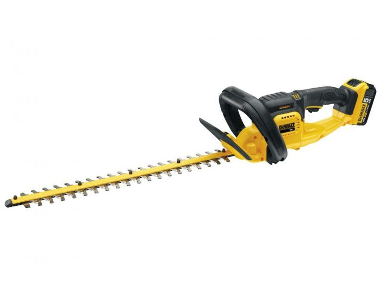Aku nůžky na živý plot - Aku plotostřih DeWalt DCM563P1 - 1x aku 18V/5.0Ah, 55cm (DCM563P1-QW)