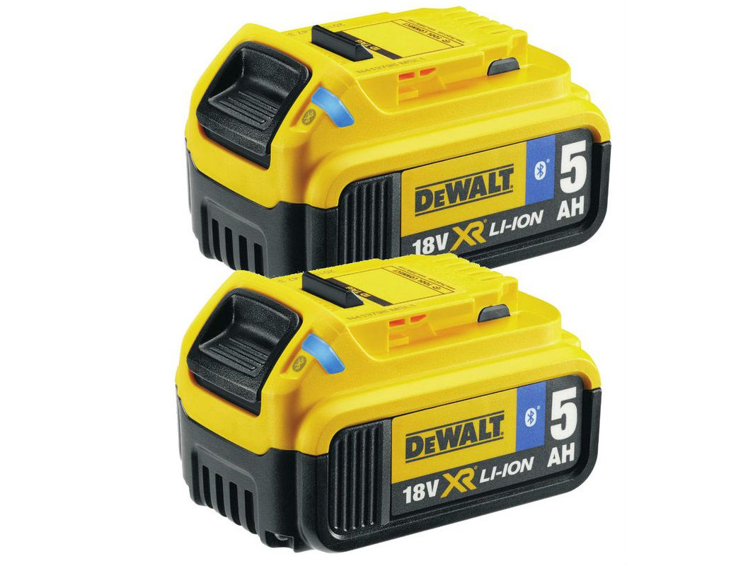 Akumulátory s technologií Bluetooth DeWALT DCB284B - XR Li-Ion 18V/5.0Ah - 2ks (DCB284B-XJ)