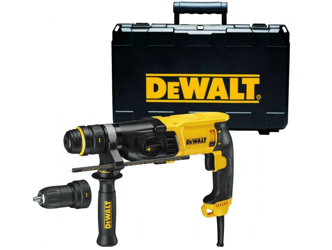 Kombinované kladivo SDS-Plus DeWalt D25134K - 800W, 2.8J, 3.0kg, rychloupínací sklíčidlo, v kufru (D25134K-QS)