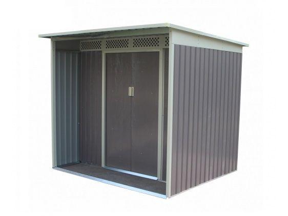 Plechový zahradní domek G21 GBAH 418 - šedý, 203x172 cm (zahradní/nářaďový domek)