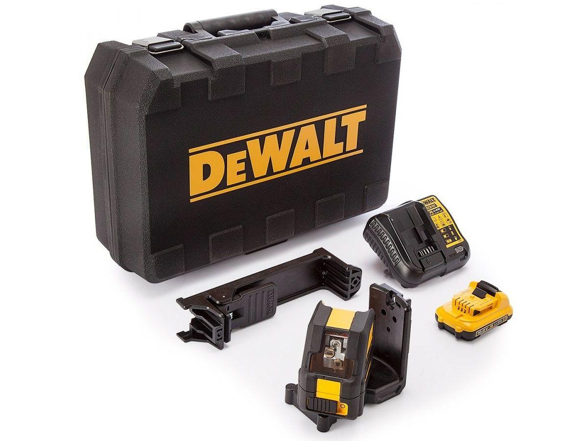 Profi křížový laser DeWALT DCE0811D1G - 1x aku 10.8V/2.0Ah, 4.3kg, v kufru (DCE0811D1G-QW)
