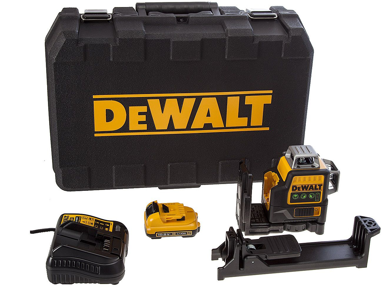 Profi křížový laser DeWALT DCE089D1G - 1x aku 10.8/2.0Ah, 4.3kg, v kufru (DCE089D1G-QW)