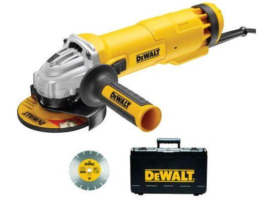 Úhlová bruska DeWalt DWE4217KD - 1200W, 125mm, 2.2kg, kotouč, beznapěťový spínač, v kufru (DWE4217KD-QS)
