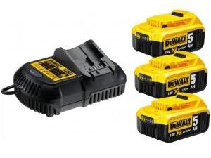 Akumulátory DeWALT DCB105P3 - XR Li-Ion 18V/5.0Ah - 3ks (DCB105P3-QW)