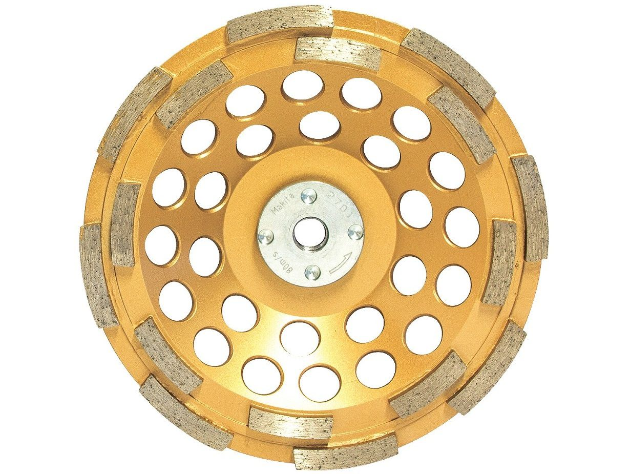 Diamantový brusný hrnec antivibrační na beton, žulu a mramor Makita, pr. 125mm / M14, 2-řadý segment (B-48549)