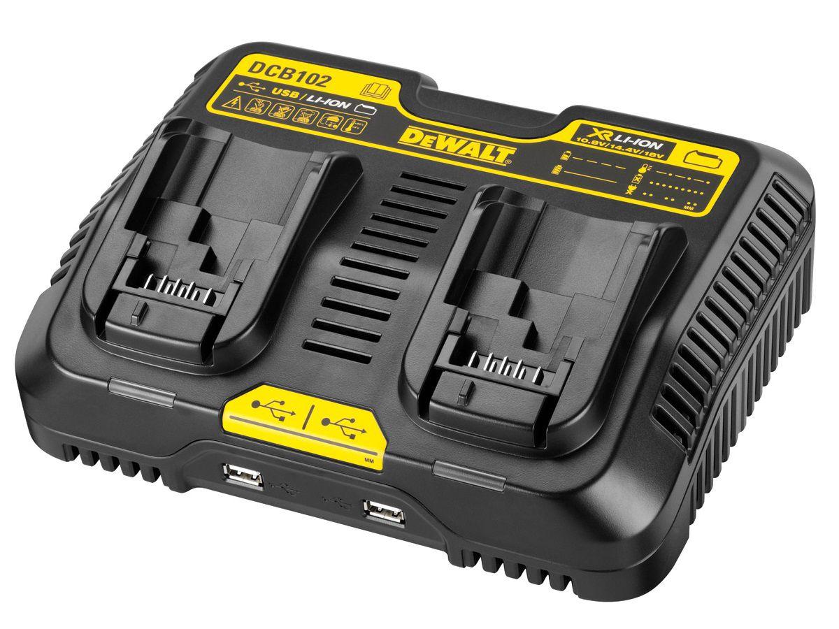 Nabíječka DeWALT DCB102 pro baterie 10.8, 14.4 a 18 V Li-Ion (DCB102-QW)