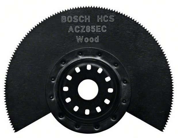 Segmentový pilový kotouč na dřevo Bosch HCS ACZ 85 EC Wood pro Multifunkční nářadí - oscilační brusku Bosch, Makita, Metabo, Skil, Casals ad. nářadí Bosch příslušenství