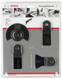 4-dílná sada na podlahy/pro vestavby pro Multifunkční nářadí - oscilační brusku Bosch, Makita, Metabo, Skil, Casals ad. nářadí Bosch příslušenství