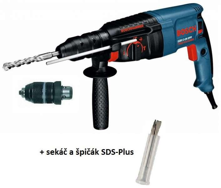 Bosch GBH 2-26 DFR Professional pneumatické kladivo + sekáč a špičák v hodnotě 500,-Kč Bosch Professional