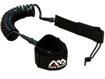 Bezpečnostní řemínek leash pro paddleboard AQUA MARINA černý