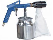 Pneumatická pískovačka Scheppach se sběrem abraziva - 4bar, 0.85L, 113L/min, 1.4kg